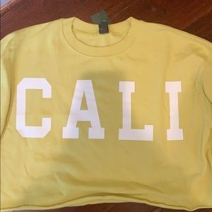 Cali cropped yellow sweatshirt